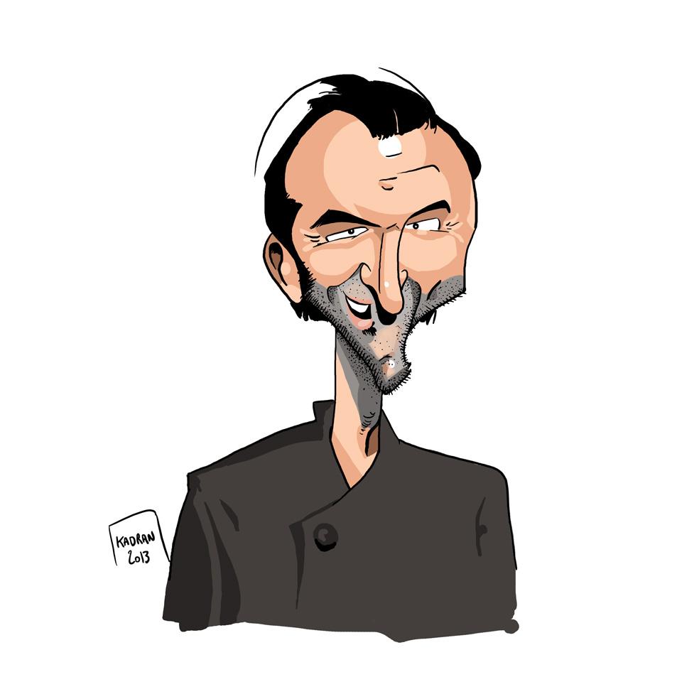Caricature de Cyril Lignac
