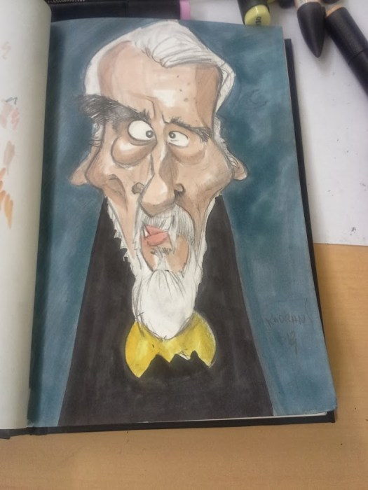 Christopher lee caricature 02