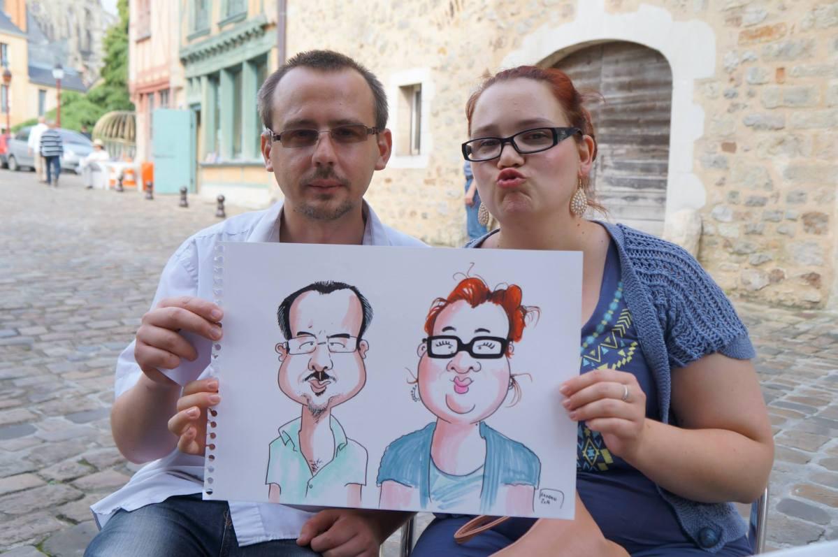 Les caricatures au gré des pavés