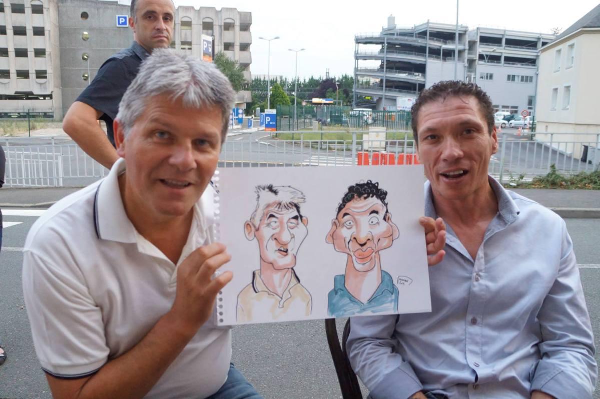"""Les caricatures, au bar """"P'tite Marie"""", le Mans"""