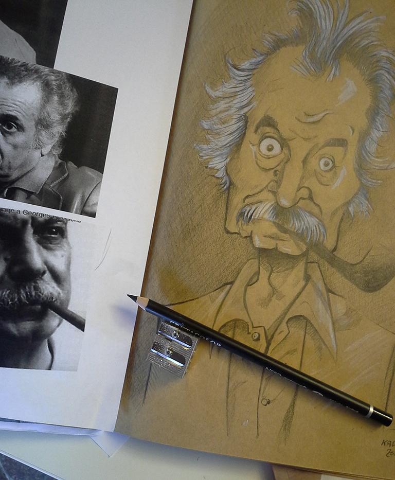 Georges Brassens caricature