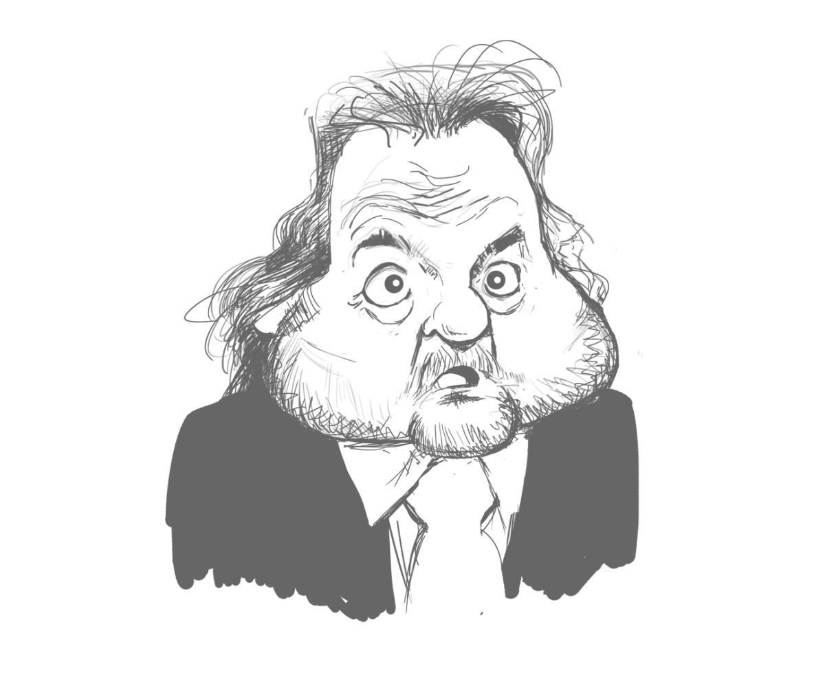 Henri Legarda,  caricature sketch.