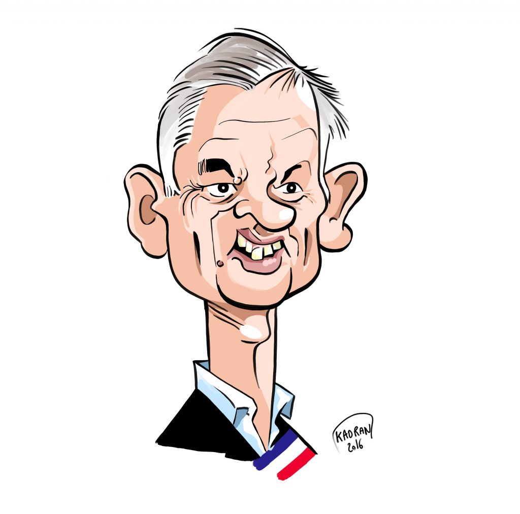 Caricature de Gilles Leproust, maire d'Allonnes (72)