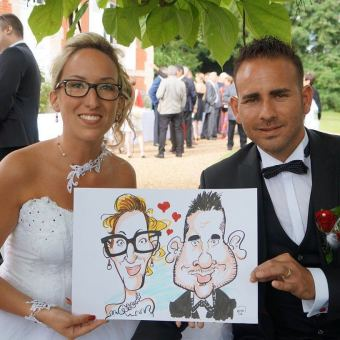 Mariage en caricatures de Marie et Jérémy, Moncé-en-Belin [72]