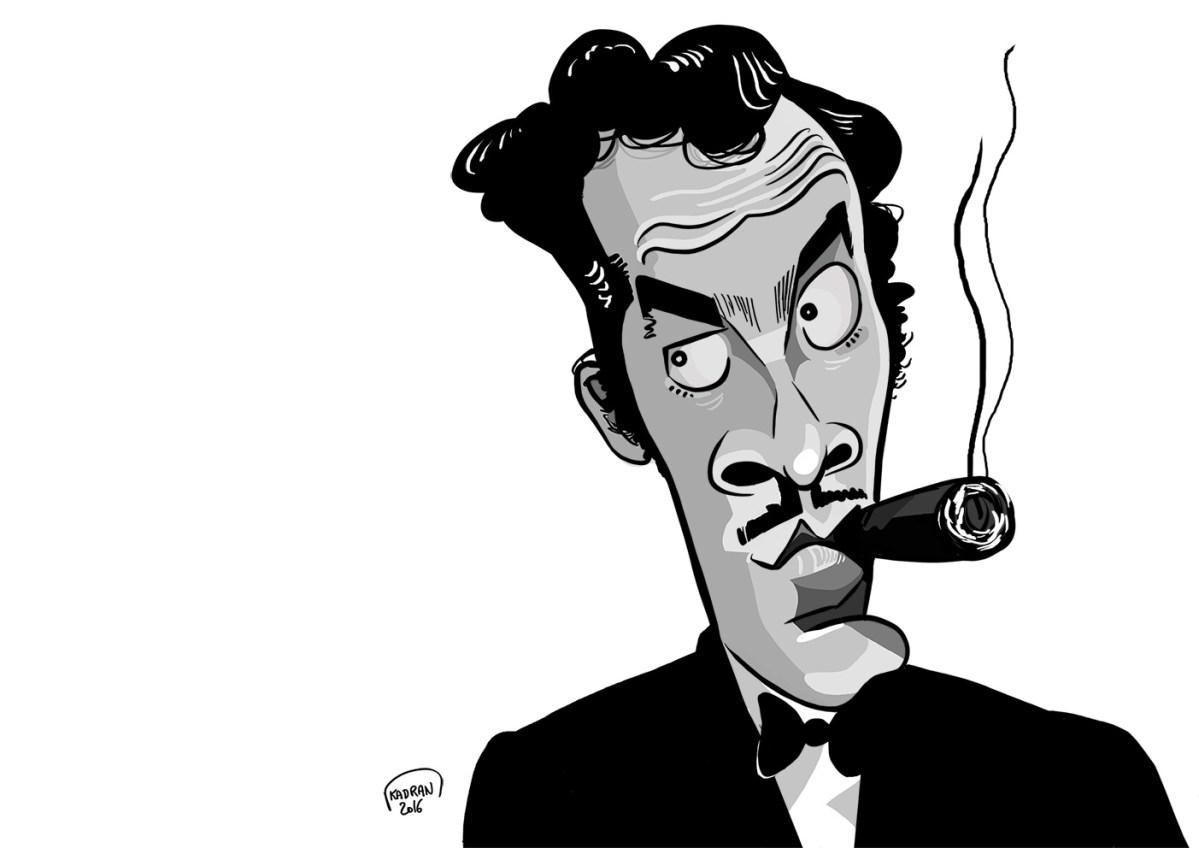 """Germán Valdés, """"TinTán"""" caricature"""