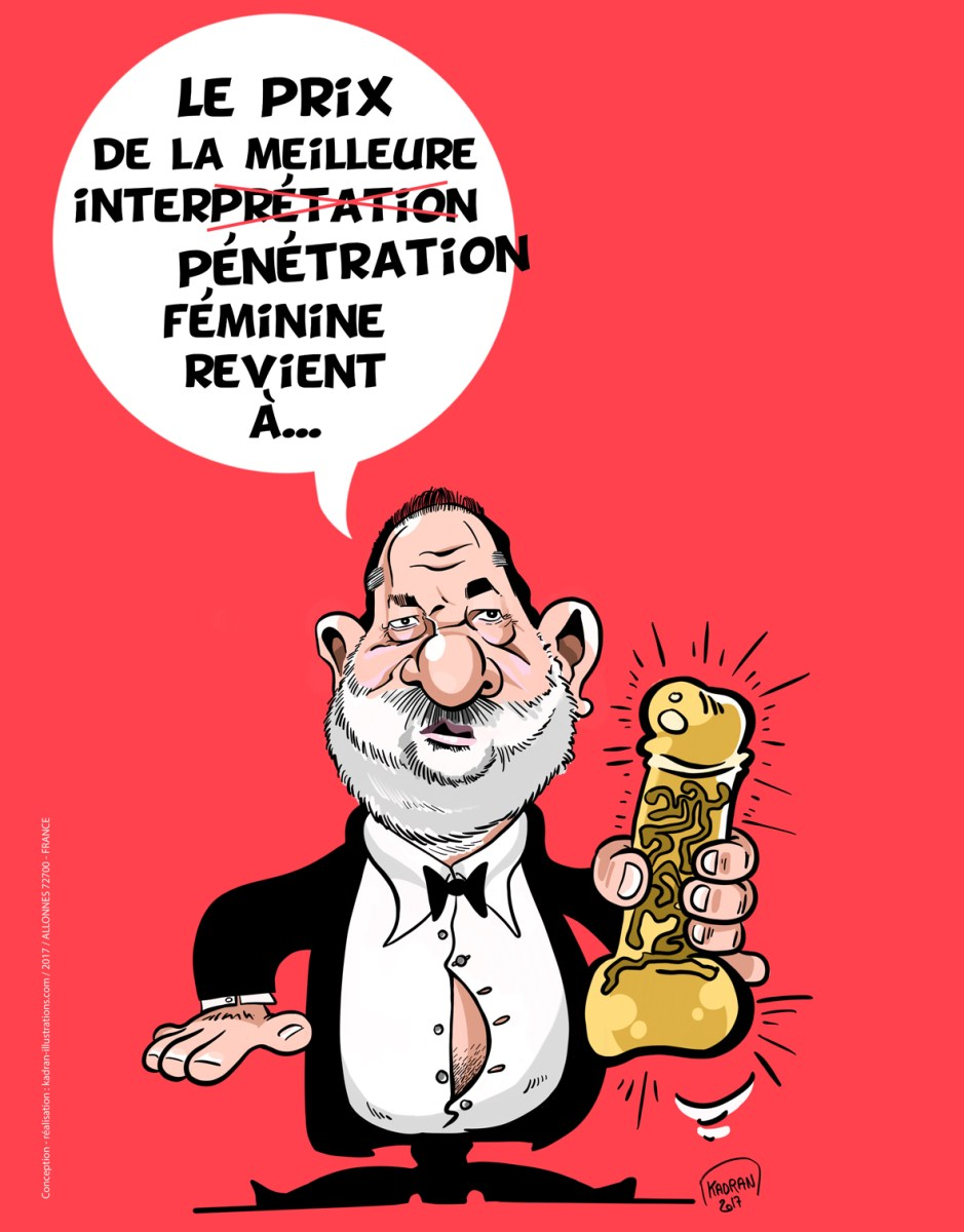 Harvey Weinstein caricature, L'Arroseur arrosé