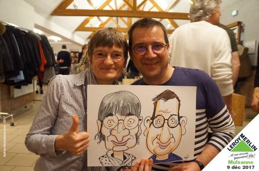 Noël en caricatures chez Leroy Merlin Mulsanne (72)