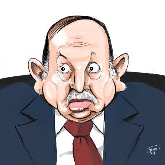 Caricature sketch couleur de Abdelaziz Bouteflika