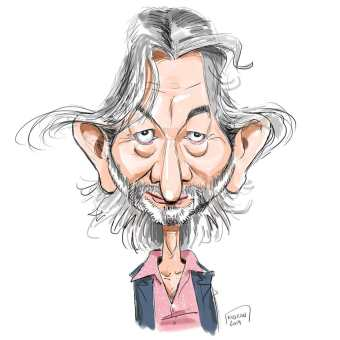 Gilles Verdez caricature