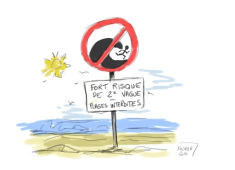 Les plages fermées au public un peu partout en France