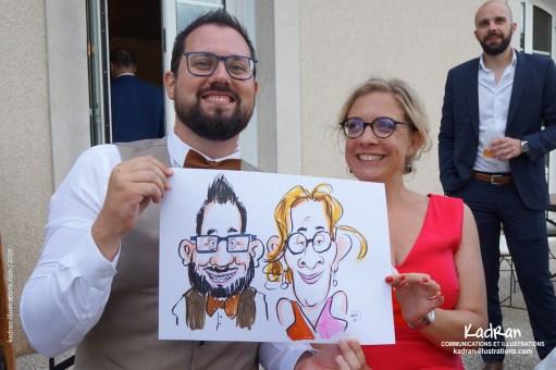 Mariage de Claire et Pierre-Jean en caricatures