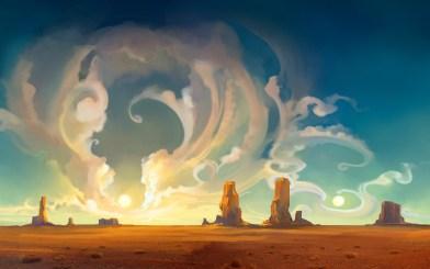 82823-artwork-digital_art-desert-landscape-nature-clouds-mesa-sky