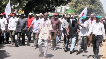 NLC protest in Kaduna