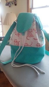 LORAINE BUCKET BAG - worn as crossbody bag