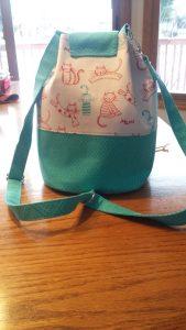 LORAINE BUCKET BAG - worn as backpack