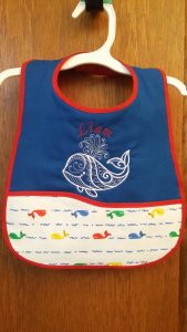 EMBROIDERED BABY BIB - customizable