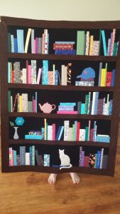 Bookshelf quilt designed for a customer!