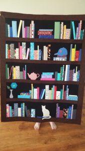 Bookshelf quilt designed for a customer!