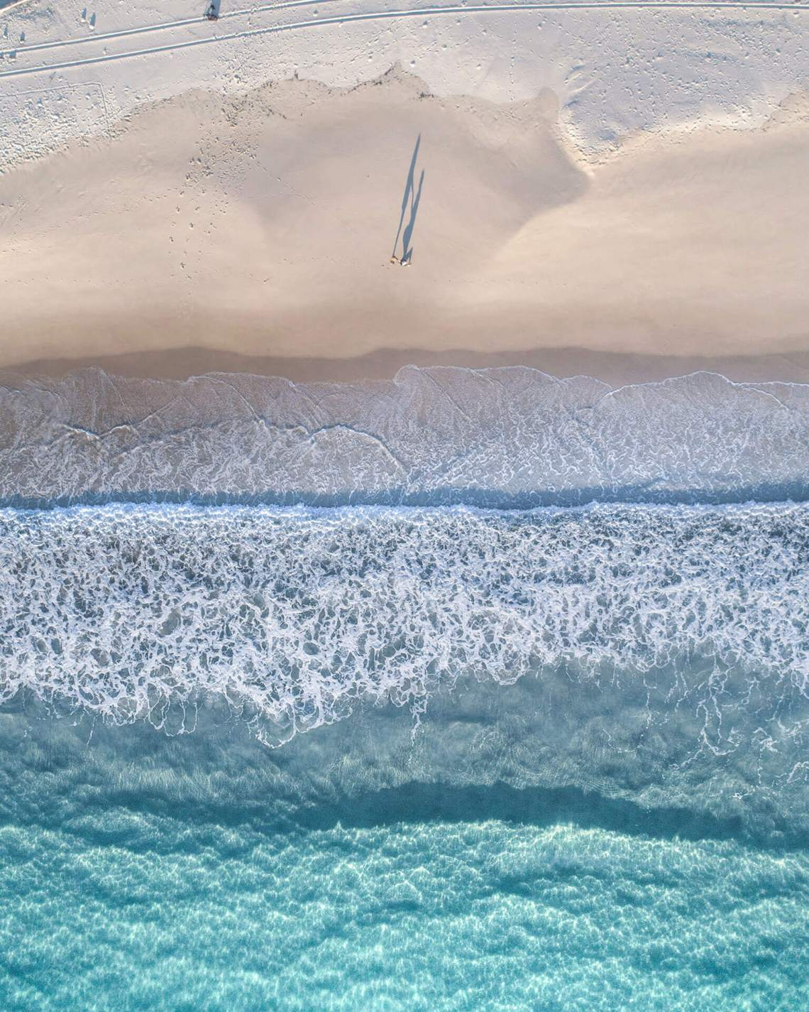 Aerial Photo of Beach Engagement