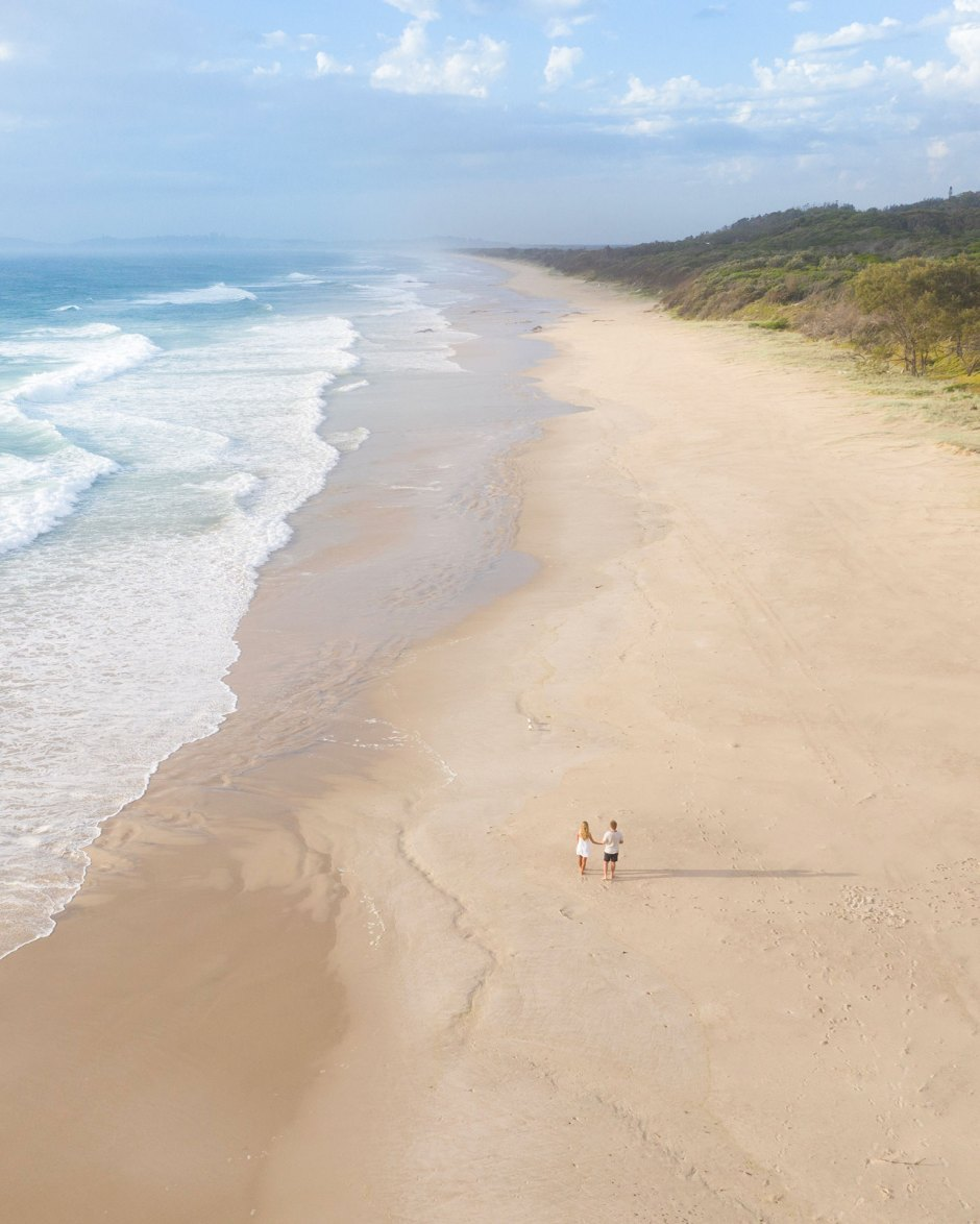 Aerial of Couple at Lennox Head