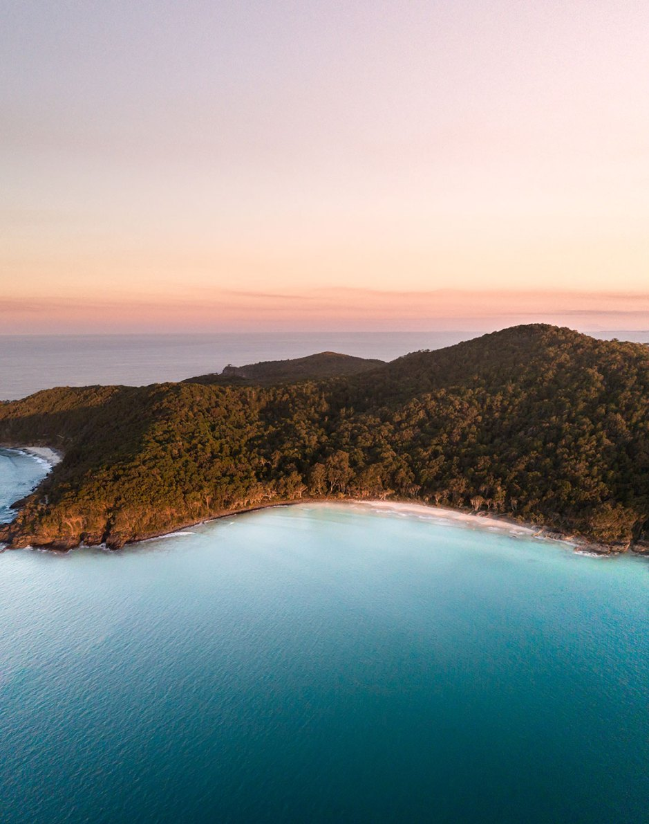 Noosa Aerial at Sunset