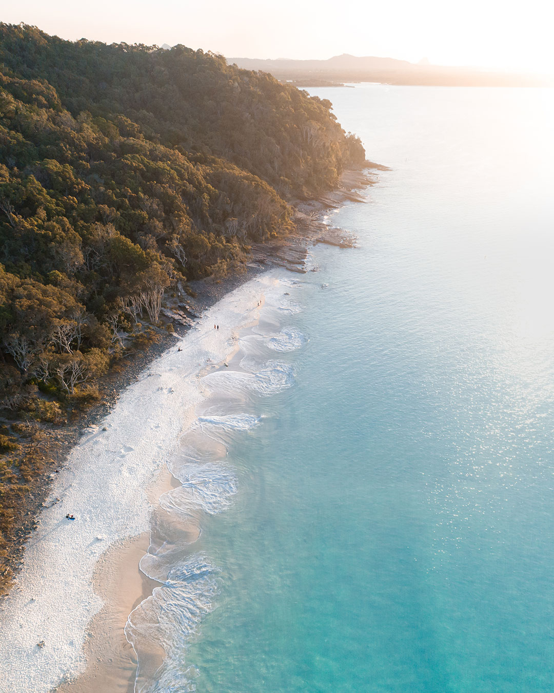 Aerial of Noosa at Sunset
