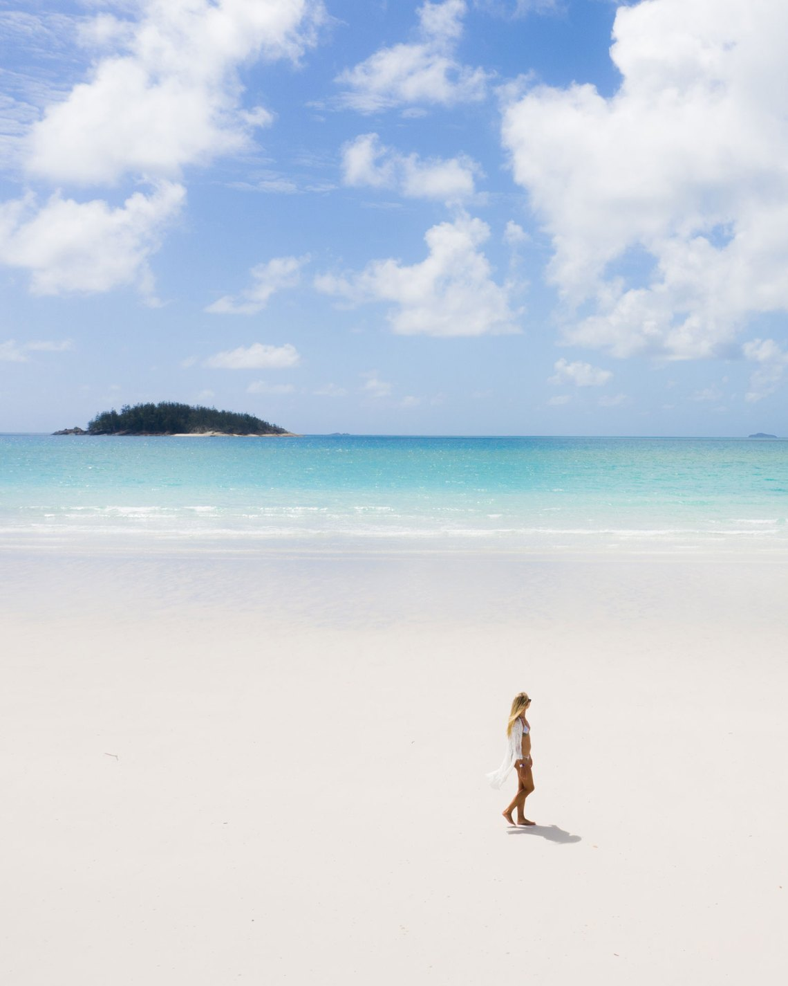 Kaede Ker At Whitehaven Beach