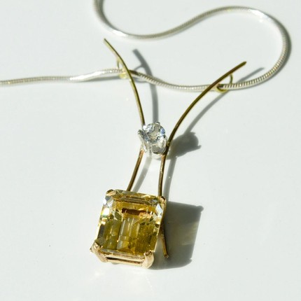 "Citrine and Topaz ""Statement"" Pendant"