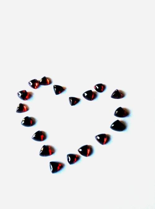 Valentine's Garnet Heart