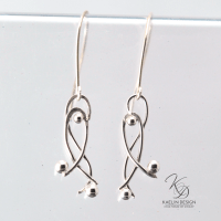 Hand Forged Silver Earrings