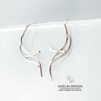 Forged Tribal Silver Earrings