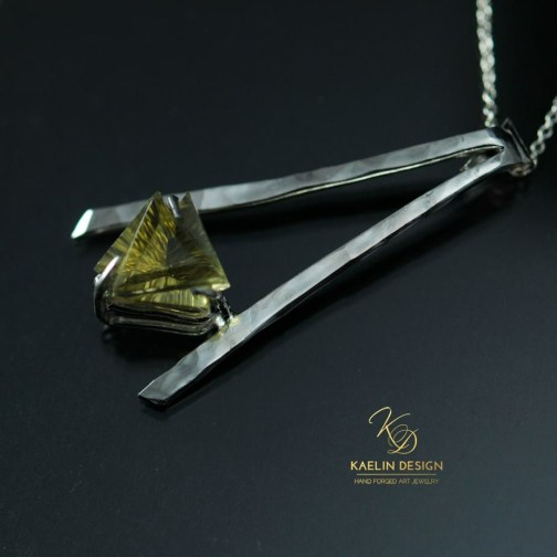 Breaking Dawn yellow topaz pendant bay Kaelin Design
