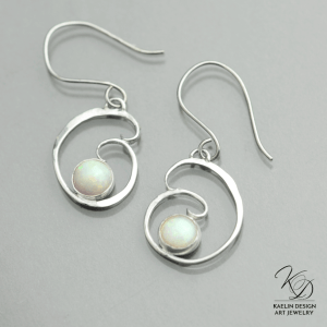 Water's Fire Opal Designer Earrings by Kaelin Design