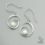 Water's Fire Opal Designer Earrings by Kaelin Design