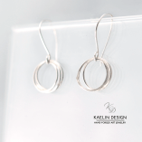 Simple Discs Forged Silver Earrings