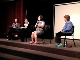 Panel on women and activist movements at Nazareth College - 2014