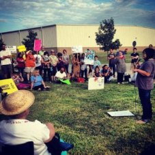 Speaking at an immigration reform rally at the Batavia Detention Center - 2013