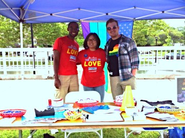 Rochester Pride Festival with summer interns - 2013