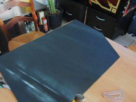 tracer l'hexagone sur le papier canson