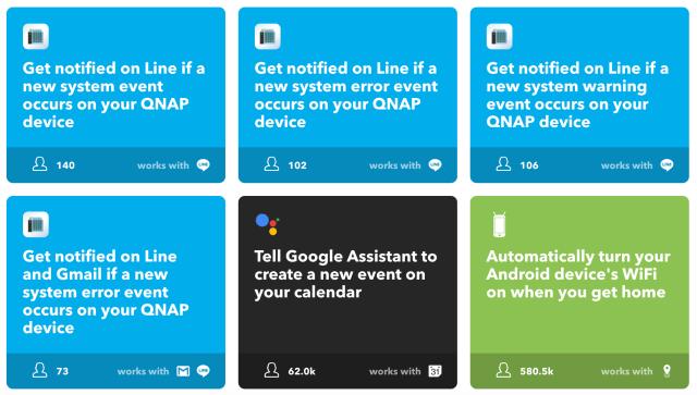 QNAP LINE notification