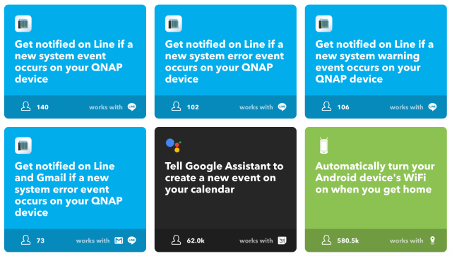QNAP LINE notification