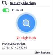 ถ้าเกิดว่าสแกน Security Checkup แล้ว มีช่องโหว่ร้ายแรงอยู่ ก็จะได้รับการแจ้งเตือนแบบนี้
