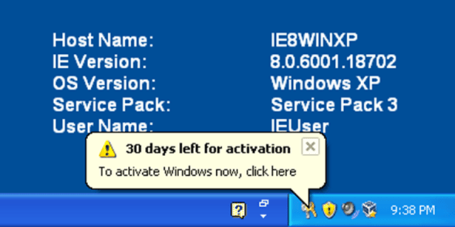 Windows XP รู้จักการ Activate ไลเซ่นส์แล้ว (เครดิตภาพ: www.computermasters.it)