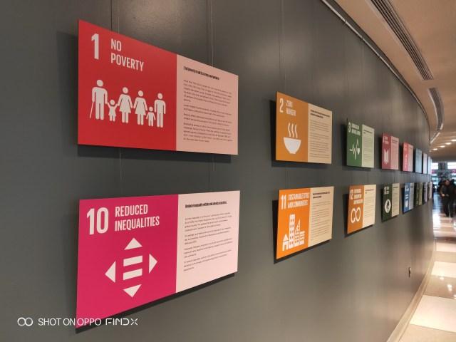 แล้วก็หัวข้อยอดฮิตของสหประชาชาติในตอนนี้ คือ Sustainable Development Goals (SDGs)