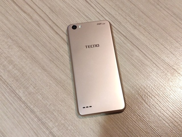 ด้านหลังของ Tecno Mobile Pop 1 Pro