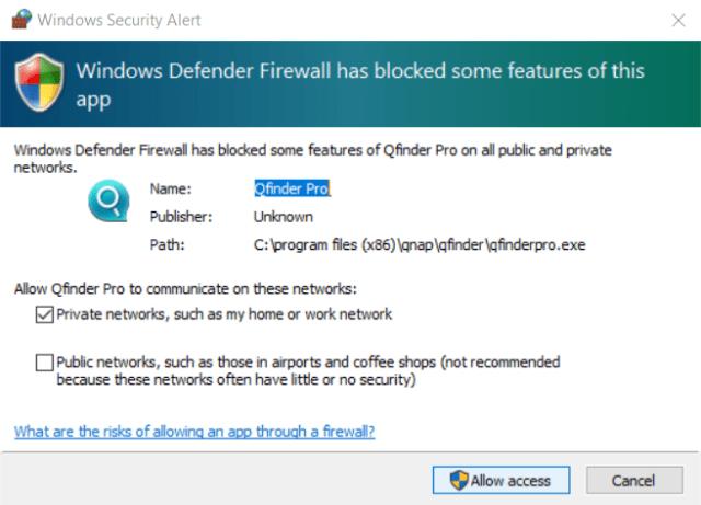 เริ่มใช้งานครั้งแรกบน Windows เจอ Security Alert ก็กด Allow access บน Private network ไป