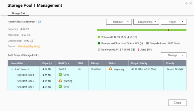 QNAP NAS 101 – EP 9: อัพเกรดจาก RAID1 ไปเป็น RAID5 ด้วย Online RAID Migration 7