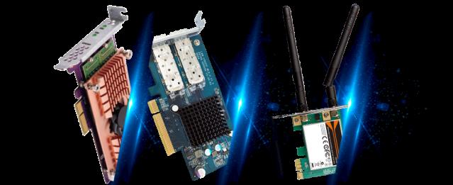 การ์ด PCIe สำหรับเพิ่มคุณสมบัติต่างๆ ให้ TS-453Be
