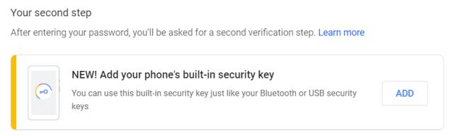 Google Account สามารถใช้ Security Key ที่มีใน Android smartphone ยืนยันตัวตนได้