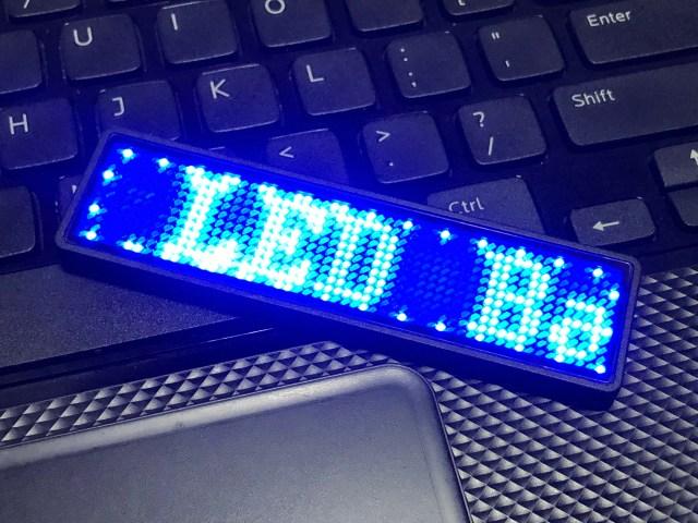 ภาพของป้ายไฟ LED แสดงตัวอักษร LED Ba